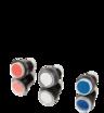 Hall-push button